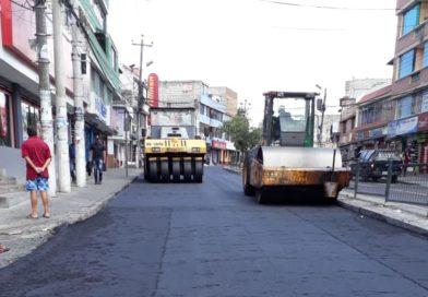 Calle Jorge Garcés, en el Comité del Pueblo, es rehabilitada