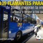 Más de 100 nuevas paradas de buses fueron instaladas