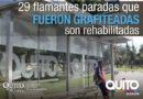 Se rehabilitan 24 paradas afectadas por actos vandálicos