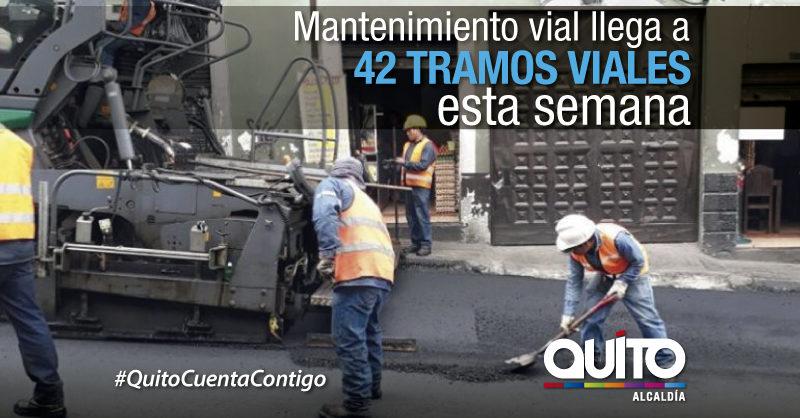 29 sectores de la ciudad a mantenimiento vial