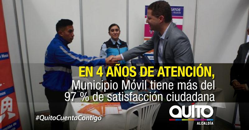 Municipio Móvil, en cuatro años, atendió a más de 100 mil usuarios