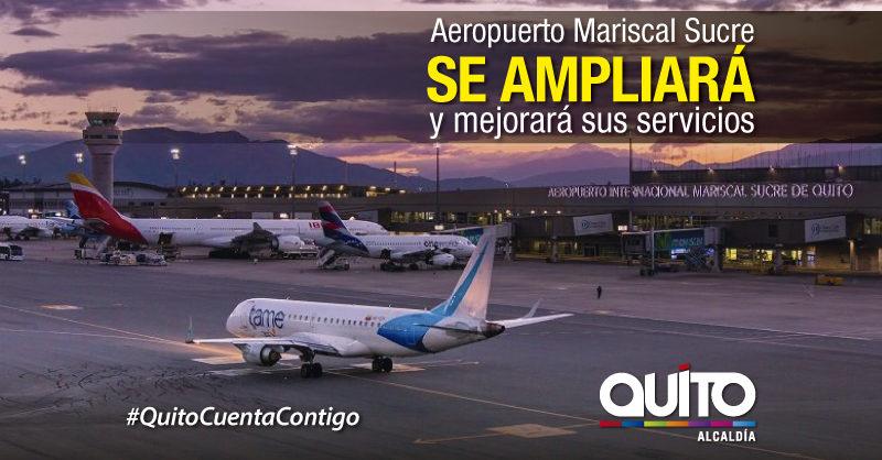 90 millones de dólares para mejorar el Aeropuerto Mariscal Sucre