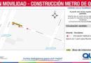 Metro de Quito: Cierre parcial en calle Ramírez Dávalos
