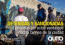Cuatro personas fueron sancionadas por grafitear