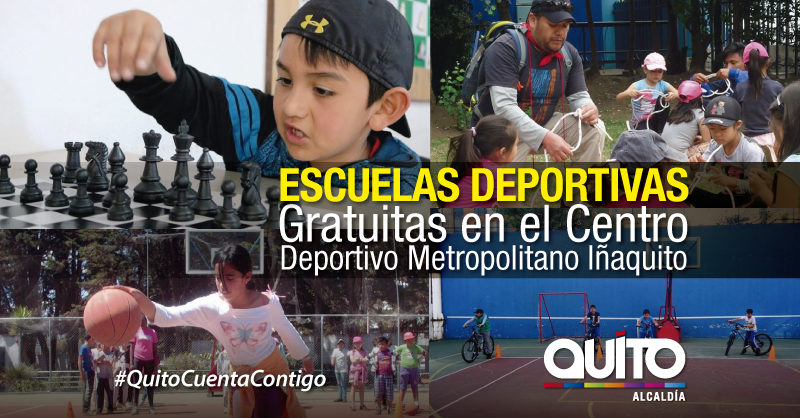 Actividades recreativas gratuitas en el Centro Deportivo de Iñaquito