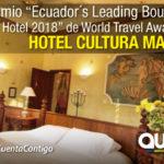 Hotel Cultura Manor, ubicado en La Mariscal, ganador de los World Travel Awards
