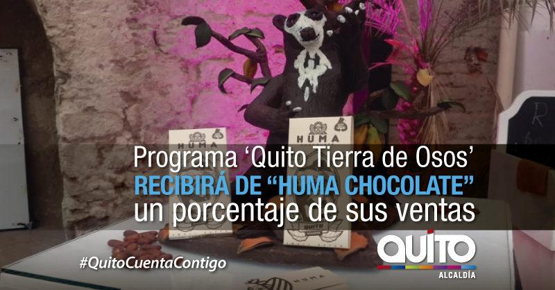 Productores de cacao apoyan la campaña 'Quito Tierra de Osos'