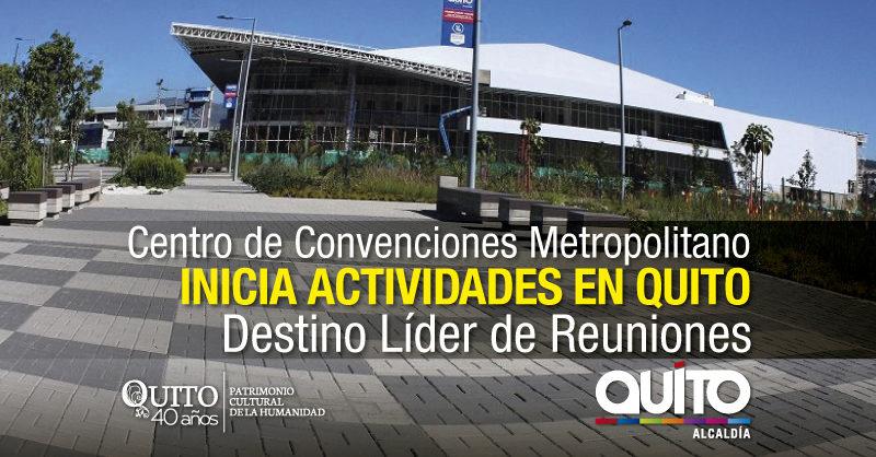 Quito, por segundo año, ganador del premio Destino Líder de Reuniones, Conferencias y Eventos de Sudamérica