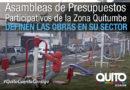 Obras que se ejecutan en Quitumbe fueron elegidas por la ciudadanía