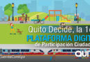 Quito presenta la primera plataforma de participación ciudadana del país