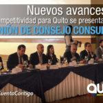 Se realizó la XII Reunión del Consejo Consultivo de Competitividad de Quito