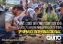 Quito ganó el premio de plata del Future Policy Award 2018