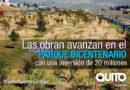 Alcalde Rodas recorrió obras del Parque Bicentenario
