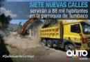 Municipio inició construcción de nuevas vías en Tumbaco