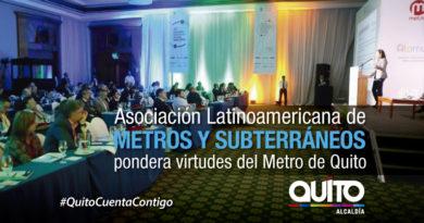 La ejecución del proyecto Metro de Quito es motivo de admiración en el continente