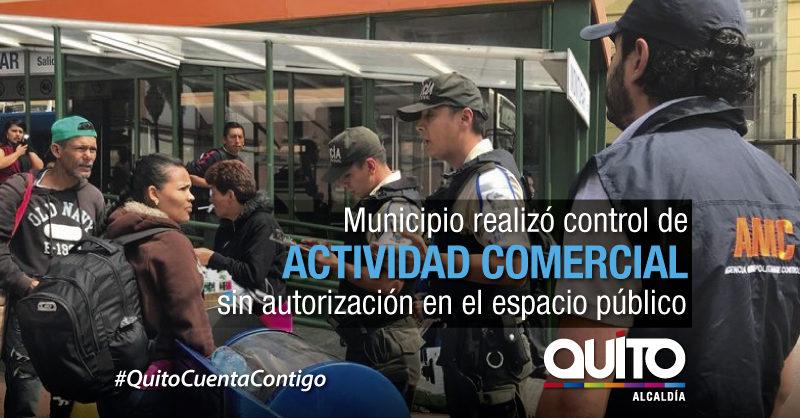 Macro operativo de control del buen uso del espacio público en el Centro Histórico
