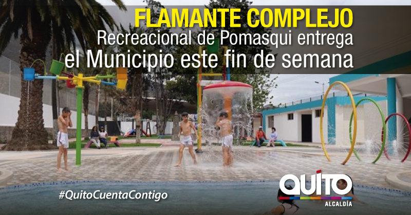 Alcaldía entrega obras en Pomasqui