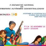Encuentro Nacional de GADs para intercambiar estrategias en salud integral para adolescente 2018