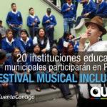 """Educación Municipal prepara """"Festival Musical Inclusivo"""""""