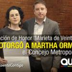 Reconocimiento post mortem para Martha Ormaza