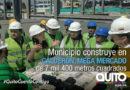 El nuevo mercado de Calderón tiene el 50% de avance en 3 meses