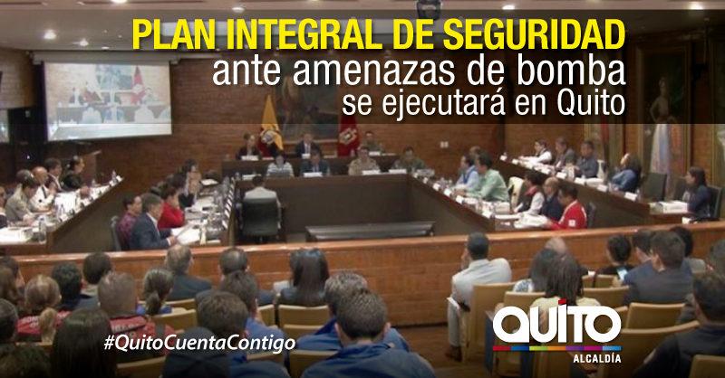 Quito, la primera ciudad en el país en tener un plan integral de seguridad ante amenazas de bomba
