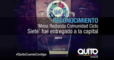 Quito recibió un reconocimiento por su participación en la Semana de la Sostenibilidad-Ciclo Siete