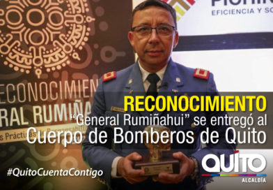 """Bomberos Quito, obtuvo el primer lugar en el reconocimiento """"General Rumiñahui"""""""