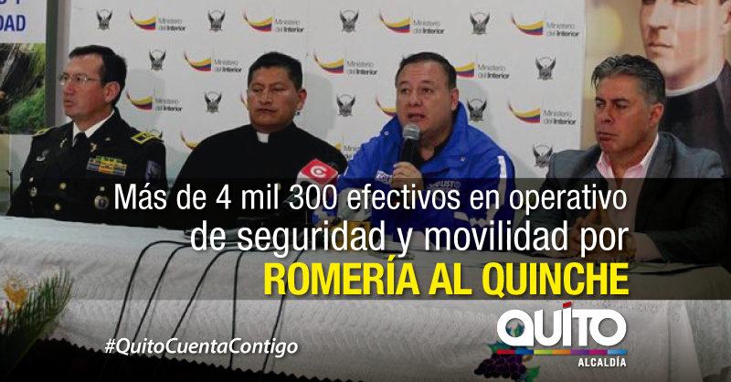Más de un millón de personas se esperan en caminata al Quinche. Operativos a punto.
