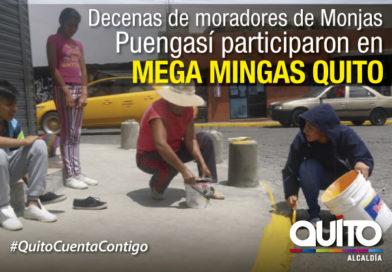 Mega minga llego hasta San José de Monjas