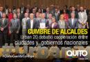Alcalde de Quito participó en la primera Cumbre de Alcaldes Urban 20