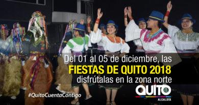Fiestas de Quito en el norte inician en el parque Inglés