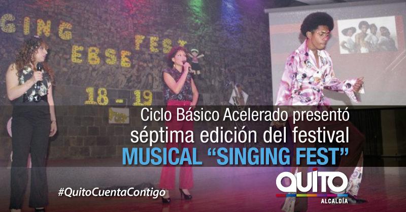 El Singing Fest presentó el talento artístico del CBA