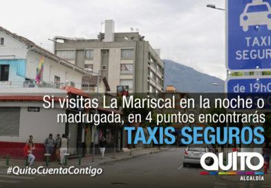 """Sector La Mariscal tiene 4 puntos de """"Taxi Seguro"""""""