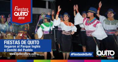 Con alegría se festejó a Quito en el Parque Inglés y Comité del Pueblo