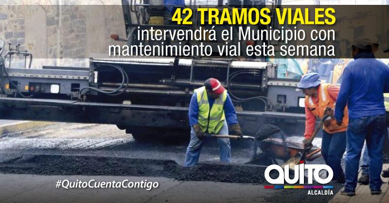 Mantenimiento vial en 23 sectores de la ciudad