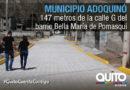 Calle G del barrio Bella María cuenta con nuevo adoquinado