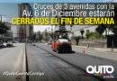 Cierres viales por trabajos en carril exclusivo de la Ecovía