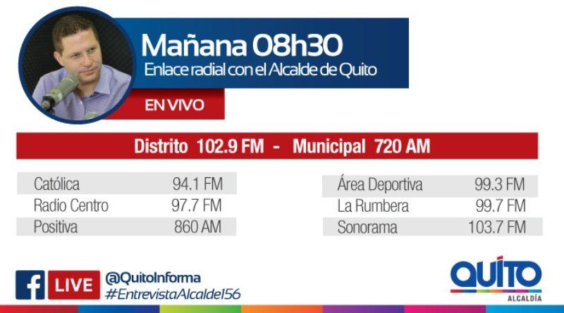 Este miércoles 23 de enero las radios de la Capital entrevistan al alcalde Mauricio Rodas