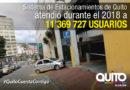 Más de 11 millones de usuarios atendidos en el Sistema de Estacionamientos Quito