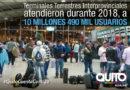 Más de 10 millones de usuarios movilizados desde las Terminales Interprovinciales