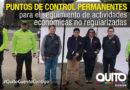 Agencia Metropolitana de Control establece puntos de control permanentes
