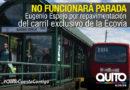 Parada Eugenio Espejo de la Ecovía se inhabilita por repavimentación