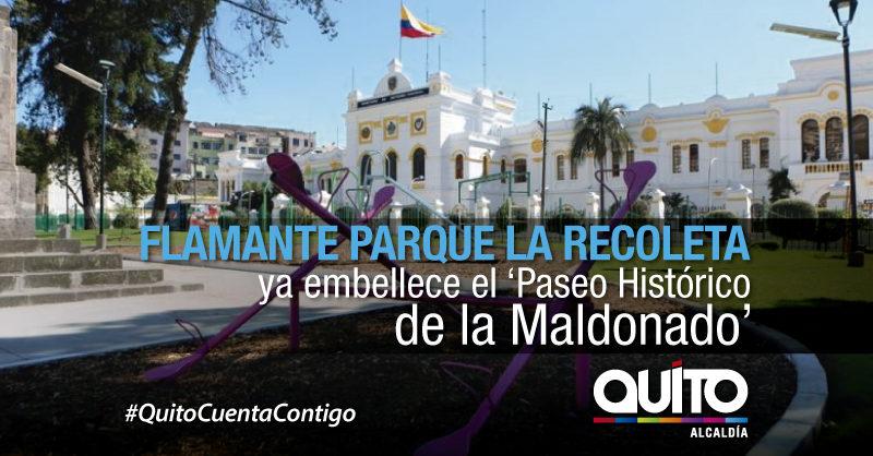 Alcalde Rodas entrega parque La Recoleta y recorre la rehabilitación de la Av. Maldonado