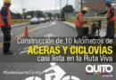 Ciclovía de la ruta Viva en fase final