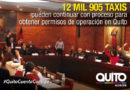 Concejo Metropolitano aprobó la ordenanza de regularización del servicio de taxi