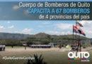 Bomberos de otras provincias se reentrenan en Quito