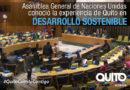 Alcalde de Quito participó en la plenaria de Naciones Unidas