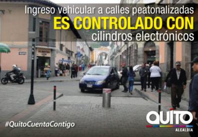 Bolardos electrónicos controlan el ingreso vehicular en zonas peatonalizadas