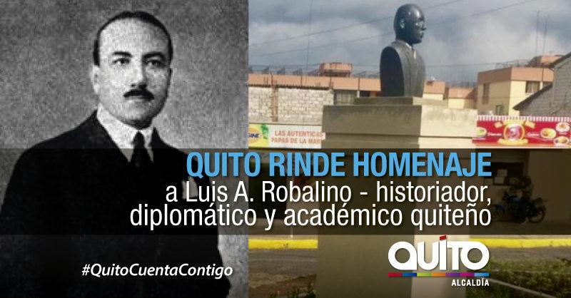 El busto del diplomático Luis Robalino tiene un espacio en la ciudad